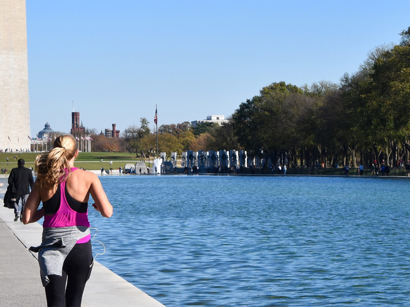 yount woman running in dc
